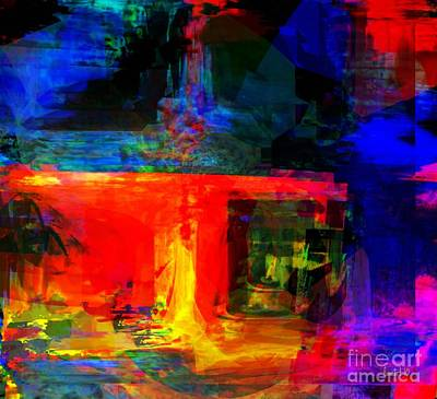 Faniart Digital Art - When Water Will Not Stop by Fania Simon