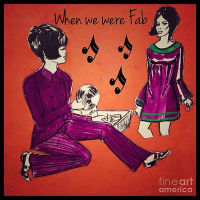 Painting - When We Were Fab 2 by Joan-Violet Stretch