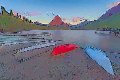 Mountains Digital Art - When Will We Row II by Jon Glaser