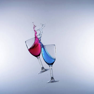 When Wine Collides #13 Art Print by Mark A Hunter