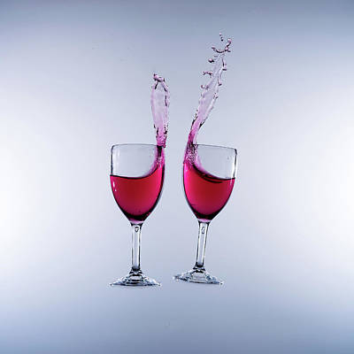 When Wine Collides #4 Art Print by Mark A Hunter