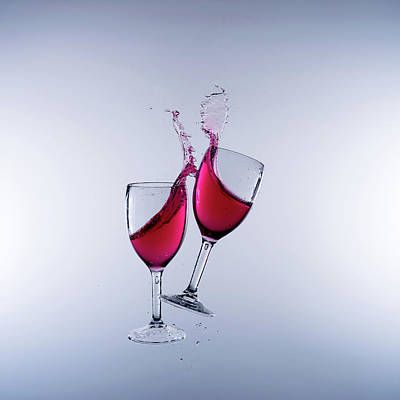 When Wine Collides #5 Art Print by Mark A Hunter