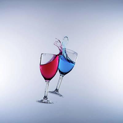 When Wine Collides #7 Art Print