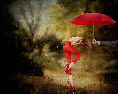 Rainy Day Mixed Media - When You Need A Hand by Terry Fleckney