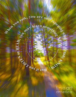 Digital Art - When You Talk 19 08 2015 by Algirdas Lukas