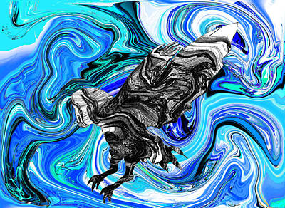 Digital Painting - When Your Sky Owls Blue by Abstract Angel Artist Stephen K