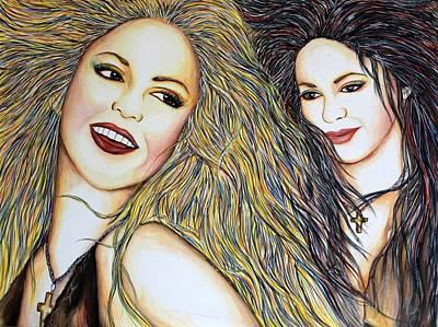 Shakira Mixed Media - Whenever Wherever by Joseph Lawrence Vasile