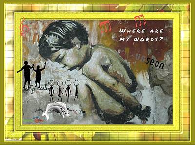 Where Are My Words? Art Print