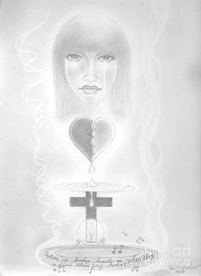 Drawing - Where Broken Hearts Go.  by Janet Hinshaw