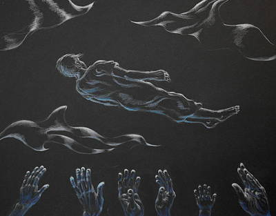 Drawing - Where Do The Dead Go by Michele Myers