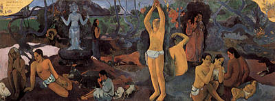 Suggestive Painting - Where Do We Come From, Who Are We, Where Are We Going by Paul Gauguin