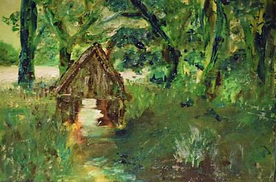 Painting - Where Fairies Bathe / Lough Rynn / Leitrim Landscapes by Dawn Richerson