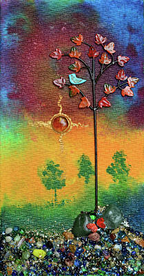 Mixed Media - Where Fireflies Gather by Donna Blackhall