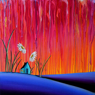 Rain Wall Art - Painting - Where Flowers Bloom by Cindy Thornton