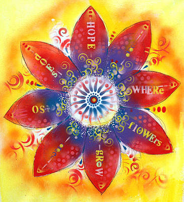 Gerber Daisy Painting - Where Flowers Grow by Dean Russo
