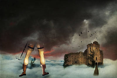 Ruins Mixed Media - Where Giants Dwell by Terry Fleckney