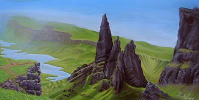 Painting - Where Giants Roam The Skye by Mark Lopez
