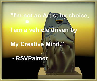 Digital Art - Where I Can See For Miles - With Quote  by RSVPalmer
