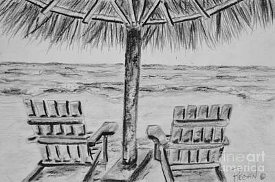 Adirondack Drawing - Where I Want To Be by Regan J Smith