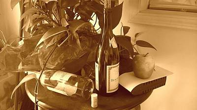 Table Wine Mixed Media - Where Is Lunch? by Scott Putman