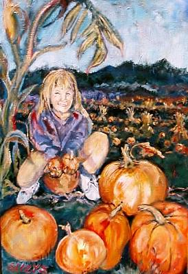 Cornstalks Painting - Where Is Peter? by Susan Brown    Slizys art signature name