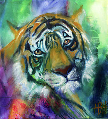 Wild Animals Painting - Where Is Your Heart by Helle Borg Hansen