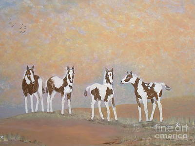 Painting - Where Painted Ponies Play by Patti Lennox