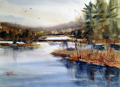 Painting - Where Peaceful Waters Flow by Judith Levins