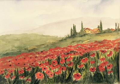 Painting - Where Poppies Grow by Heidi Patricio-Nadon