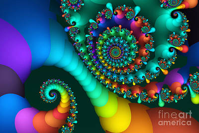 Jutta Pusl Digital Art - Where Rainbows Are Made by Jutta Maria Pusl
