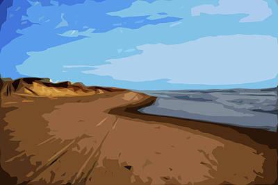 Where Sea Meets Sky Art Print by Linda Mesibov