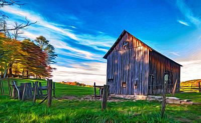 Barn Photograph - Where Silence Lives - Paint by Steve Harrington