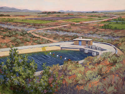 Subterranean Painting - Where The Aqueduct Goes Underground by Jane Thorpe