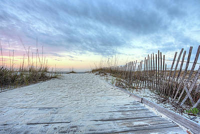 Photograph - Where The Boardwalk Ends In South Walton by JC Findley