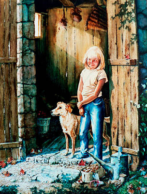 Shed Painting - Where The Boys Are by Hanne Lore Koehler