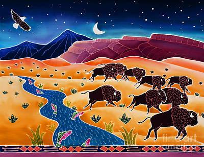 Where The Buffalo Roam Art Print by Harriet Peck Taylor