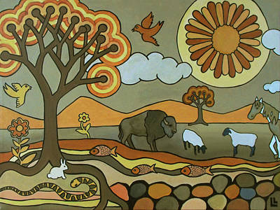 Painting - Where The Buffalo Roam by Lindi Levison