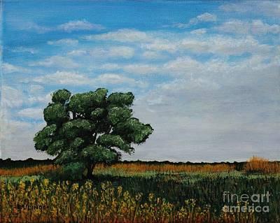 Painting - Where The Fields Meet by Billinda Brandli DeVillez