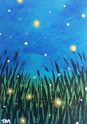 Youthful Painting - Where The Fireflies Go by Jennifer McCallister