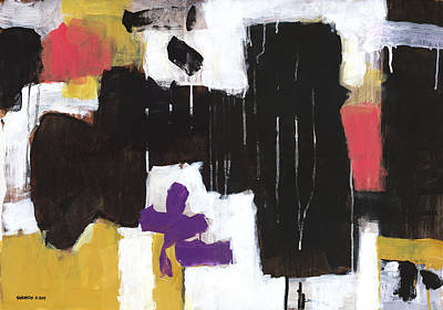 Abstract Painting - Where The Flowers Were by Douglas Simonson