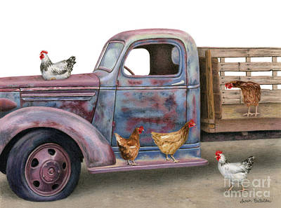 Americana Painting - The Flock Spot  by Sarah Batalka