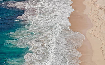 Wave Photograph - Where The Ocean Ends... by Andreas Feldtkeller