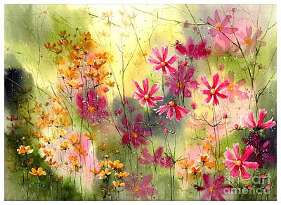 Georgetown Wall Art - Painting - Where The Pink Flowers Grow by Suzann's Art