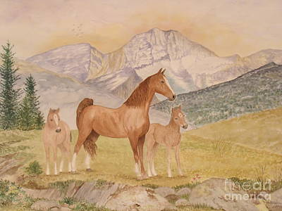 Painting - Where The Prairies Meet The Mountains by Patti Lennox