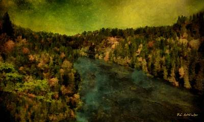 Painting - Where The River Ends by RC deWinter