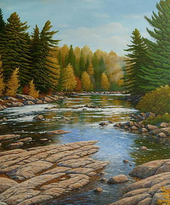 Where The River Flows Art Print