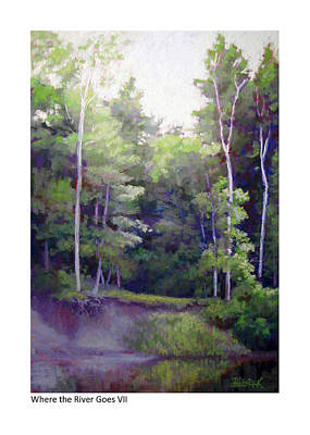 Painting - Where The River Goes Vii by Betsy Derrick