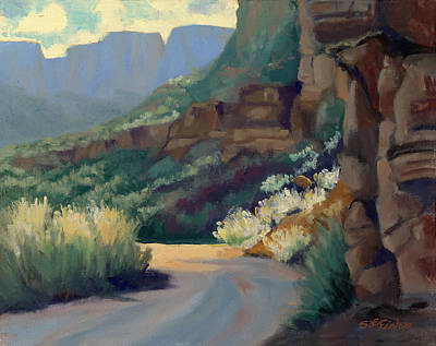 Painting - Where The Road Bends by Sandy Fisher