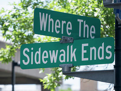 Photograph - Where The Sidewalk Ends by Steven Ralser