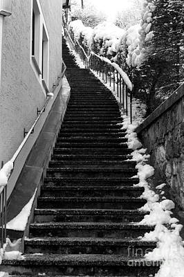 Photograph - Where The Stairs Lead In Berchtesgaden by John Rizzuto